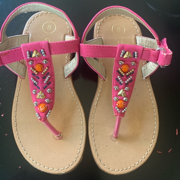 Cherokee Other - Pink beaded sandals